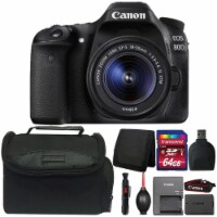 Canon Eos 80d Digital Slr Camera With 18-55mm Lens And Accessory Bundle - 1