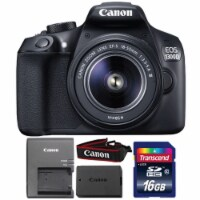 Canon Eos 1300d/t6 18mp Digital Slr Camera With 18-55mm Iii Lens And 16gb Memory Card - 1