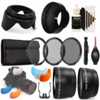 55mm Telephoto And Wide Angle Lens Bundle For Nikon D3300 , D3400 And D5300 - 1