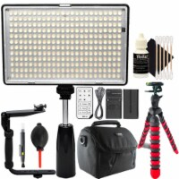 Professional 288 Led 1400 Lumens Video Light With Accessories - 1