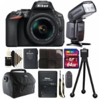 Nikon D5600 Dslr Camera With 18-55mm Lens, Speedlight Flash And Deluxe Accessory Kit - 1