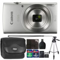 Canon Ixus 185 / Elph 180 20mp Digital Camera Silver With Deluxe Accessory Kit - 1