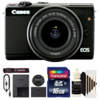 Canon Eos M100 Digital Camera W/ 15-45mm Lens, 16gb Memory Card And Cleaning Kit - 1