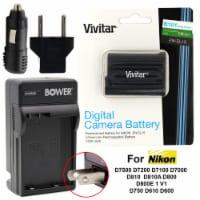 Vivtar Oem Enel15 Battery And Charger Kit For Nikon D7500 D7200 D7100 D7000 D810 D750 D610 - 1