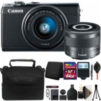 Canon Eos M100 Mirrorless Digital Camera With 15-45mm And 28mm Lens And Pro Kit - 1