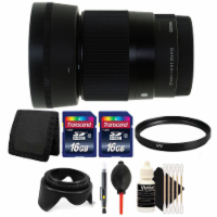Sigma 30mm F/1.4 Dc Dn Contemporary Lens For Sony E Mount Mirrorless With Bundle - 1