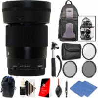 Sigma 30mm F/1.4 Dc Dn Contemporary Lens For Sony E + All You Need Accessories - 1
