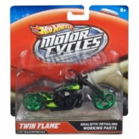 Hot Wheels 1:18 Scale Steer Power Motorcycle, Twin Flame