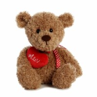 "#Luv 9"" Teddy Bear, Tan - 1"