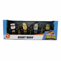 Hot Wheels Monster Trucks 1: 64, 4 Pack Vehicles, Beast Bash
