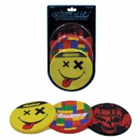 Disceez High Performance Flying Dic, 13cm, Assorted (Pack of 3), Smiley