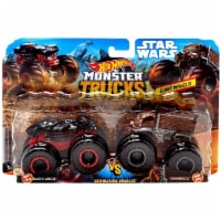 Hot Wheels Monster Trucks 1:64 Scale Demolition Doubles, Darth Vader vs Chewbacca