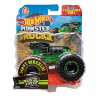 Hot Wheels Monster Trucks 1:64 Scale Ratical Racer, Includes Crushable Car
