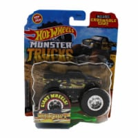Hot Wheels Monster Trucks 1:64 Scale Big Foot, Includes Crushable Car