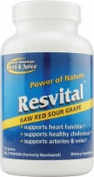 North American Herb & Spice Resvital Raw Red Sour Grape Powder - 0.71 oz