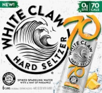 White Claw Pineapple Hard Seltzer 6 Cans