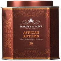 Harney& Sons African Autumn Caffeine-Free Herbal Tea 30 Bags 2.67 oz