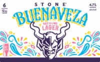 Stone Brewing Co. Buenaveza Salt & Lime Lager Beer - 6 cans / 12 fl oz