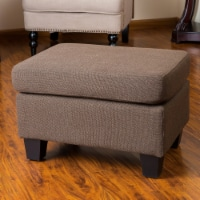 Christabel Brown Fabric Ottoman Footstool - 1 unit