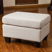 Christabel Beige Fabric Ottoman Footstool - 1 unit
