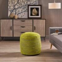 Rosalyn Fabric Round Pouf Ottoman - 1 unit
