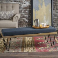 Elaina Industrial Modern Fabric Bench