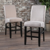 Clifton Wheat Fabric Counter Stools (Set of 2)
