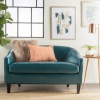 Isolde Modern Petite Loveseat Settee (Fabric or PU Leather)