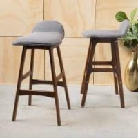 Tolle Mid-Century Modern Upholstered Barstools (Set of 2) - 1 unit