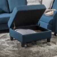 Carolina Tufted Cover Fabric Storage Ottoman