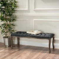 Tassette Traditional Button Tufted Fabric Bench