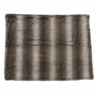 Tuscan Ash White Faux Fur  Throw Blanket