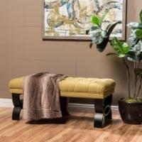 Reddington Tufted Fabric Ottoman Bench