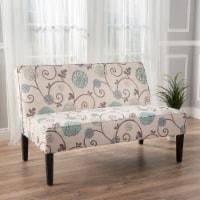 Charlotte Modern Simple Elegant Fabric Loveseat