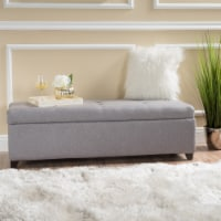 Bajia Tufted Pillow Top Fabric Stoarge Ottoman - 1 unit