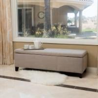 Sarelia Contemporary Beige Fabric Storage Ottoman Bench - 1 unit