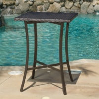 Cait 40-Inch Brown Outdoor Wicker Bar Table