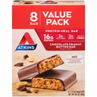 Atkins Chocolate Peanut Butter Meal Replacement Bars 8 Count
