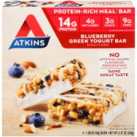 Atkins Protein-Rich Blueberry Greek Yogurt Meal Bars 5 Count