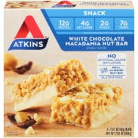 Atkins White Chocolate Macadamia Nut Snack Bar 5 Count