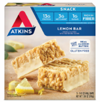 Atkins Lemon Snack Bars 5 Count