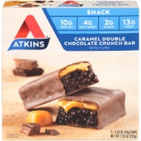Atkins Caramel Double Chocolate Crunch Bars 5 Count