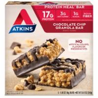 Atkins Protein-Rich Chocolate Chip Granola Meal Bars
