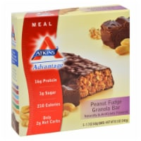 Atkins Protein-Rich  Peanut Fudge Granola Meal Bars 5 Count