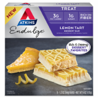 Atkins Endulge Lemon Tart Dessert Bars 5 Count