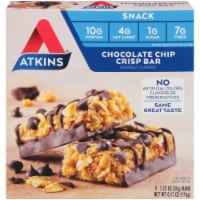 Atkins Chocolate Chip Crisp Snack Bars 5 Count