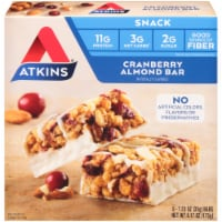 Atkins Cranberry Almond Bars 5 Count