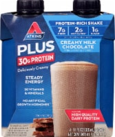 Atkins Plus Protein & Fiber Creamy Milk Chocolate Shake