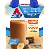 Atkins Chocolate Banana Energy Shakes
