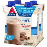 Atkins Milk Chocolate Delight Protein-Rich Shakes - 4 bottles / 11 fl oz